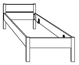 Hasena Function Comfort Bettgestell inkl. Füße Lys