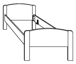 Hasena Function Comfort Bettgestell inkl. Füße Ballade