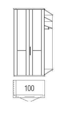Loddenkemper Schlafzimmer Cortina Plus Drehtüren-Anbausystem