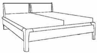 Loddenkemper Schlafzimmer Cortina Plus Betten und Beimöbel 3612