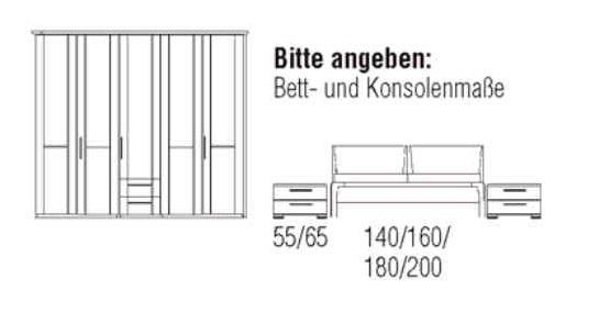 Loddenkemper Schlafzimmer Cortina Plus Zusammenstellungen 9254