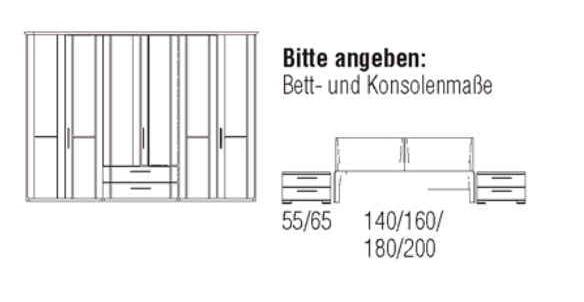 Loddenkemper Schlafzimmer Cortina Plus Zusammenstellungen 9264