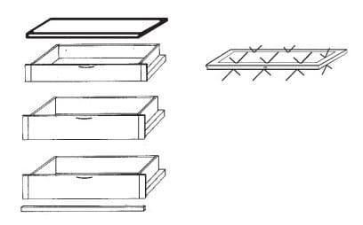 Loddenkemper Schlafzimmer Dakota Zusatzausstattungen Zubehör-Set 6