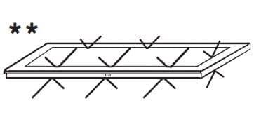 Loddenkemper Schlafzimmer Merano Zusatzausstattung für Drehtürenschränke Glaseinlegeböden