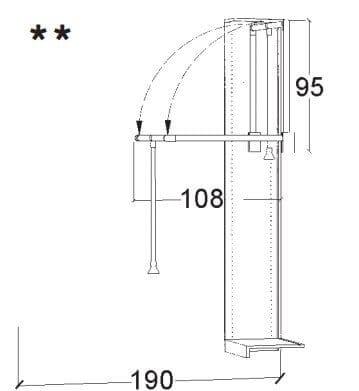 Loddenkemper Schlafzimmer Merano Zusatzausstattung für Drehtürenschränke Kleiderlift