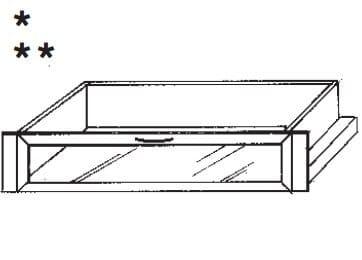 Loddenkemper Schlafzimmer Merano Zusatzausstattung für Drehtürenschränke Schubkästen