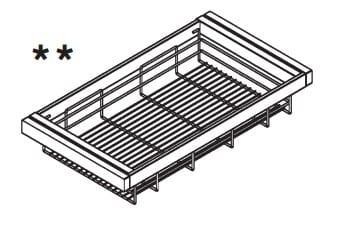 Loddenkemper Schlafzimmer Merano Zusatzausstattung für Drehtürenschränke Wäschekörbe