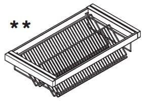 Loddenkemper Schlafzimmer Merano Zusatzausstattung für Drehtürenschränke Schuhkorb