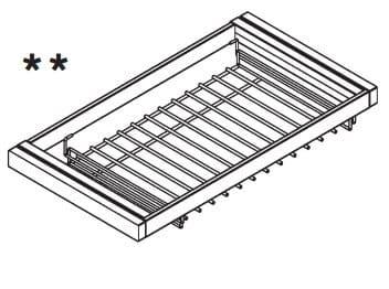 Loddenkemper Schlafzimmer Merano Zusatzausstattung für Drehtürenschränke Hosenhalter