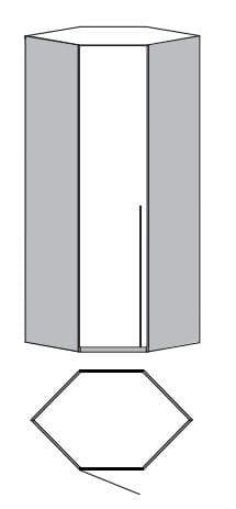 Loddenkemper Schlafzimmer Merano Anbausystem Eck-Startschrank 1-türig 1076