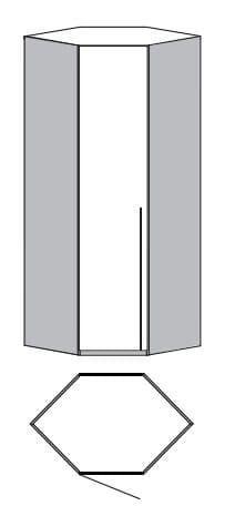 Loddenkemper Schlafzimmer Merano Anbausystem Eck-Startschrank