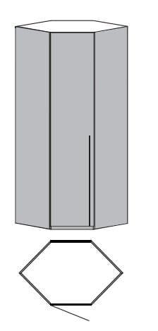 Loddenkemper Schlafzimmer Merano Anbausystem Eck-Startschrank 1-türig 1083