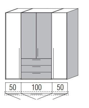 Loddenkemper Schlafzimmer Merano Drehtürenschränke