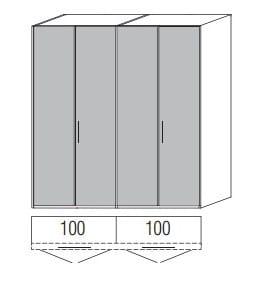 Loddenkemper Schlafzimmer Multi Comfort Standardschränke 4-türig