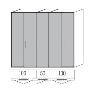 Loddenkemper Schlafzimmer Multi Comfort Standardschränke 5-türig