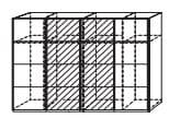 Rauch Select Art Schlafzimmer Beluga-Base Synchron-Schwebetürenschränke Ausführung Vertikal