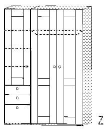 Röhr Jugendzimmer cottage Kleiderschränke Kleiderschrank, 3-türig