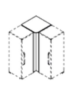 Röhr Jugendzimmer Pixxel Zubehör Eckplatte / Eckblende