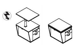 Röhr Büro Techno 019 Schreibtischcontainer / Beimöbel