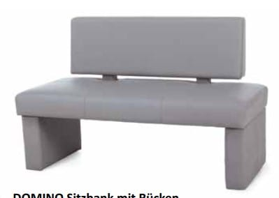Standard-Furniture Bänke Domino Sitzbank mit Rücken