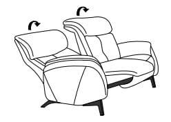 Himolla Cumuly Comfort 4708 2 1/2-Sitzer