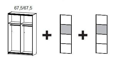 Rauch Packs Schlafzimmer Quadra Extra Schwebetürenschränke