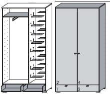 Wittenbreder Multi-Color UNA Kompakt-Garderobe
