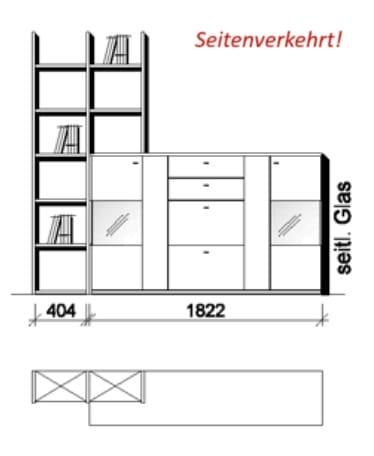 Wöstmann Wohnzimmer Bari 3000 Kombination