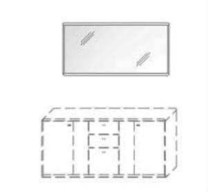 Wöstmann Wohnzimmer Bari 3000 Wandspiegel