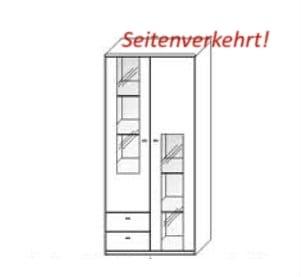 Wöstmann Wohnzimmer Bari 3000 Vitrine