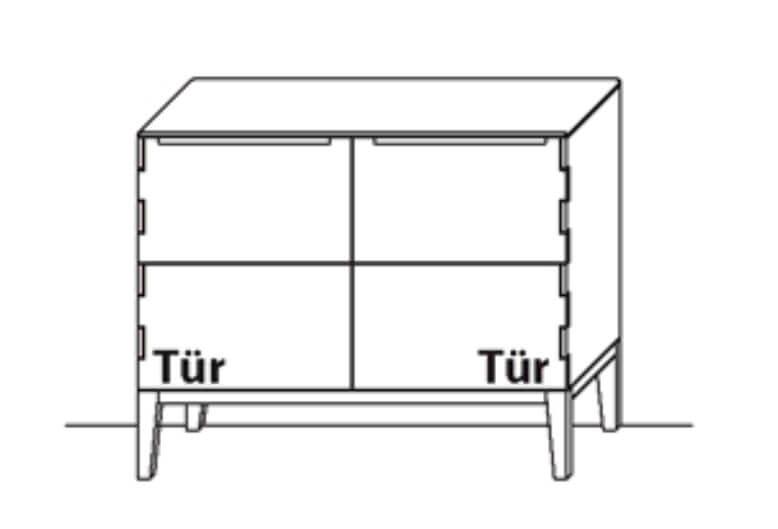 Wöstmann Wohnzimmer C100 Sideboarde